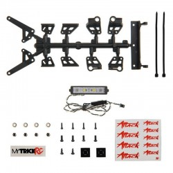 2 inch Flame Thrower Light Bar (kit includes Dragon Hardware Kit