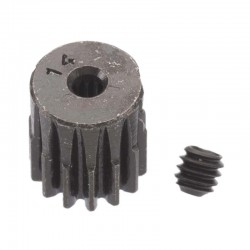 14T Mod 0.5 Hardened Steel Pinion Gear 2mm Bore