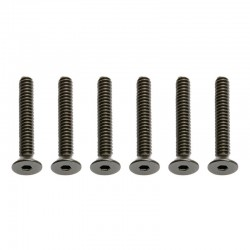 4-40x3/4in FHCS Flat Head Cap Screws (6)