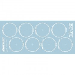 RC10F6 Tire Decals white
