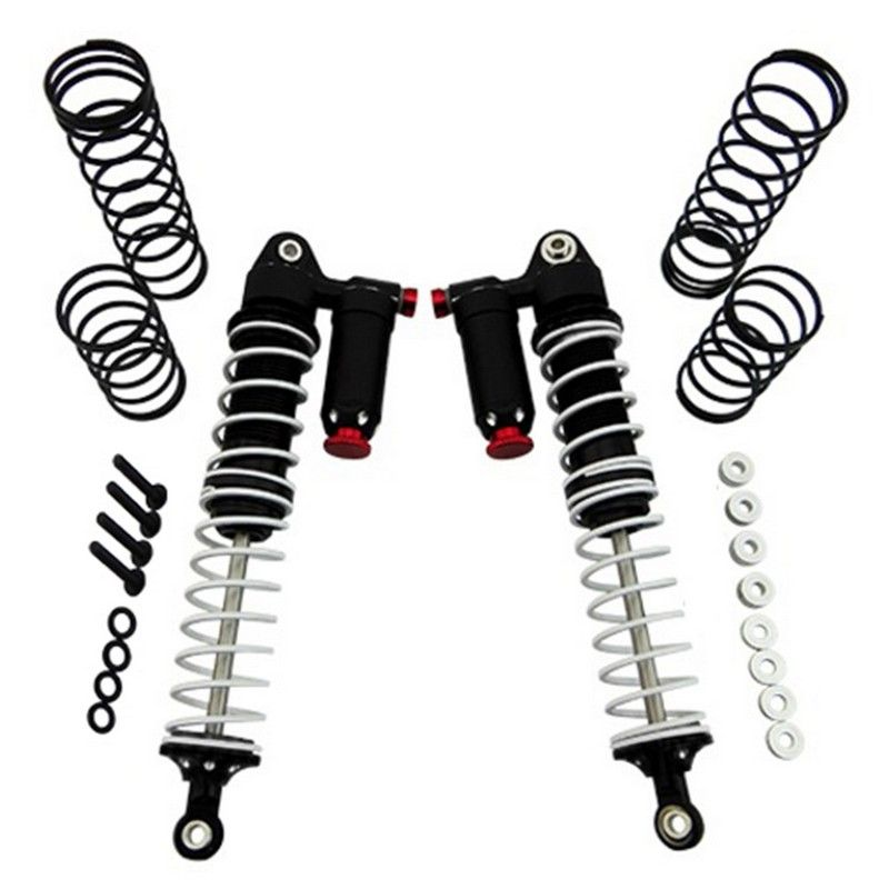 Black 120mm Aluminum Adjustable Piggyback Shocks (2)
