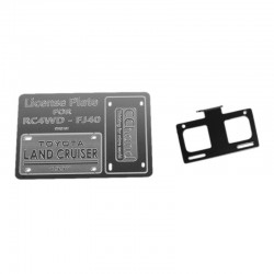 Front License Plate System for RC4WD G2 Cruiser