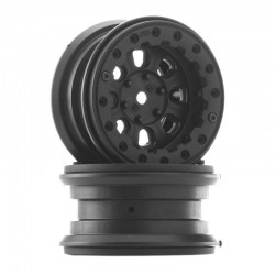 Denali 2.2 Inch Black/Black Bead-Loc 8 Spoke Wheels