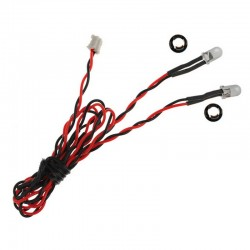 5mm Red Dual LED 15.75 inch wire length