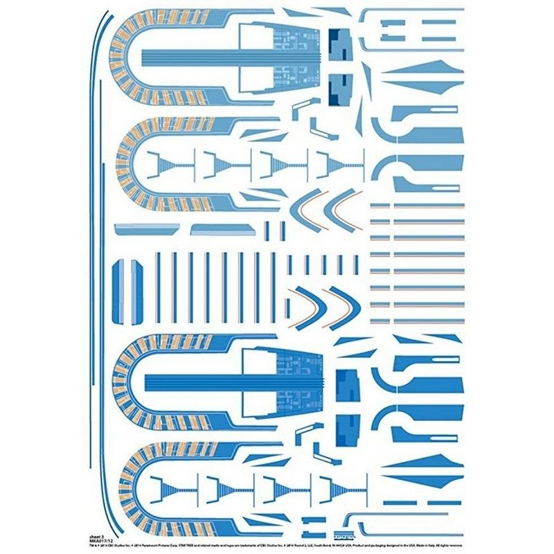 Star Trek 1/1000 USS Excelsior Aztec Decal Set