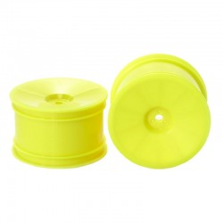 RC 4WD Buggy Rear Dish Wheels - Hex Hub / Yellow