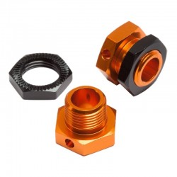 Hex Wheels Adapters 5mm Orange/Black Trophy Buggy