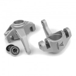 Axial Yeti / Exo Steering Knuckles Clear Anodized