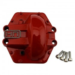Metal Low Profile AR60 Diff Cover (Red) - Yeti Wraith AX10