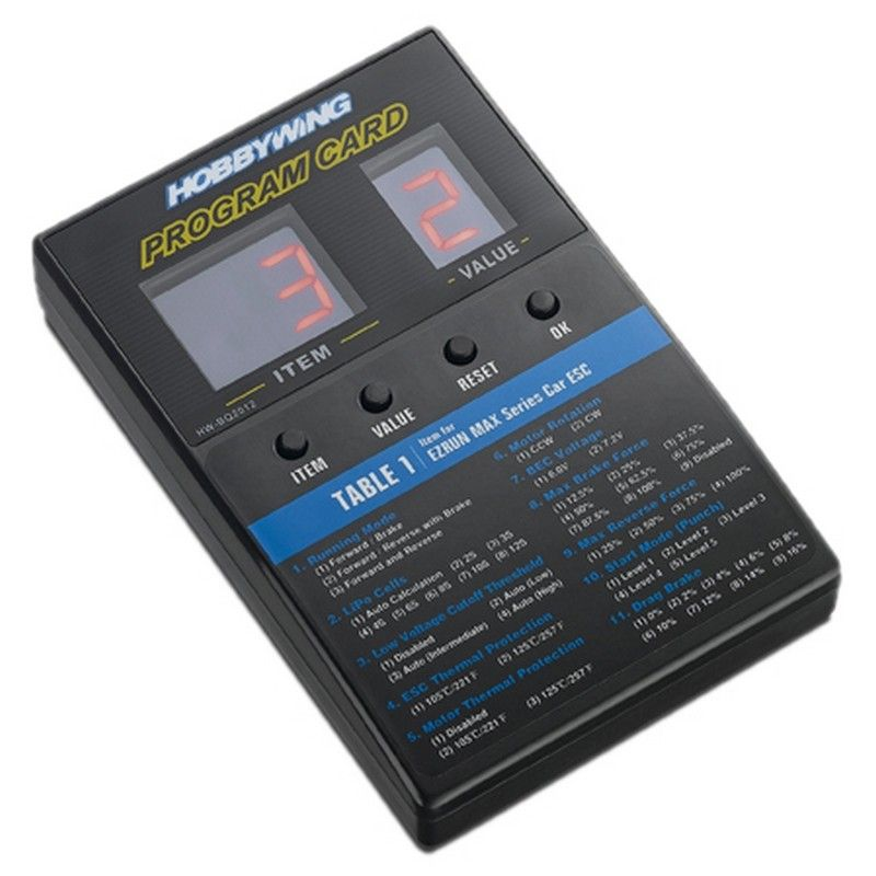 Hobbywing Led Program Card - General Use for Cars Boats and Air Use [30501003]