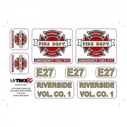 Fire Truck Sticker Set