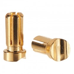 5mm Gold Plated 13mm Long Bullet
