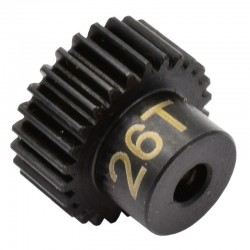 26T 48P Hardened Steel Pinion Gear 1/8 Bore