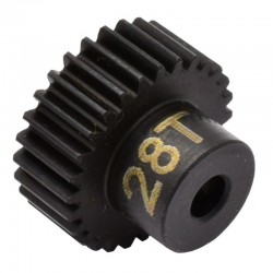 28T 48P Hardened Steel Pinion Gear 1/8 Bore