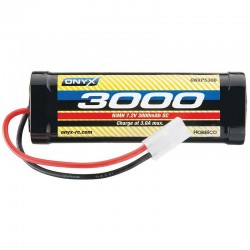 NiMH 6 Cell 7.2V 3000mAh Stick Pack Battery Tamiya Plug