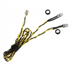 5mm Yellow Dual LED 15.75 inch wire length