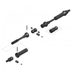 X-Duty Center Drive Kit 95 to 130mm w/ 5mm Hubs Vaterra