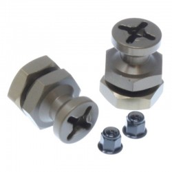 Machined Aluminum 17mm Wheel Adapter (1pr)(Gunmetal) for TR-SC10