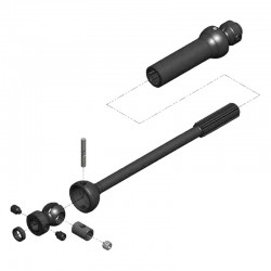 Center Drive Kit Sgl Shft 140mm-165mm w/5mm Hubs