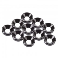 R/C M4 Countersunk Washers Black Anodized (10)