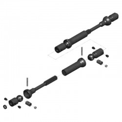 Center Drive Kit 120mm-145mm w/ 5mm Hubs
