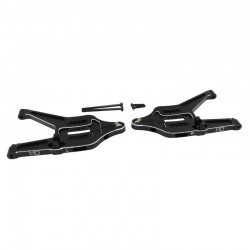 Hot Racing Black Aluminum Front Lower Arms [TUDR55M01]