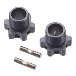 R/C Wheels Hubs 17mm 2mm Offset W/Pins EB48 (2)