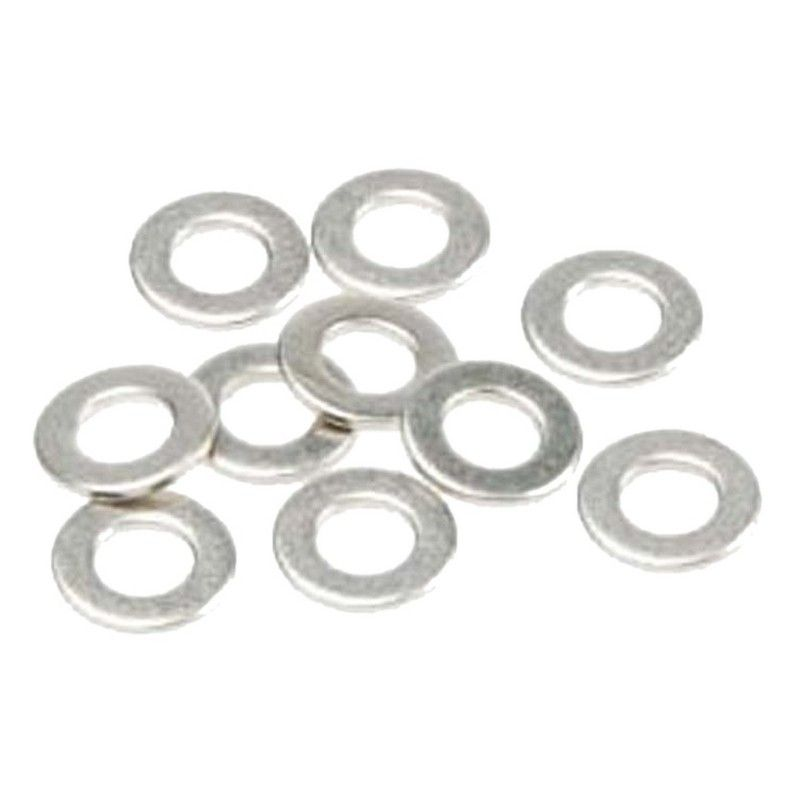 Shock Piston Washer Chrome 2.5mm ID (10)