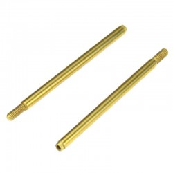 Shock Shafts Rear Steel TiNi coated 2 pieces :ET410