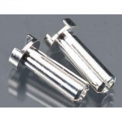 14mm 4mm Bullet Male Connectors Silver (pr)