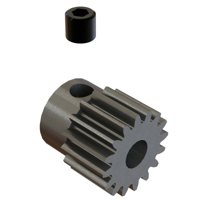 16T 48P Steel Pinion Gear 1/8 Bore