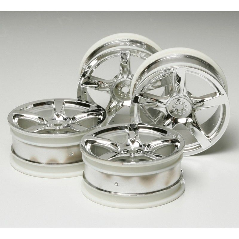 RC 24mm 5 Spoke Wheel 4 pieces - Metal Plated/+0