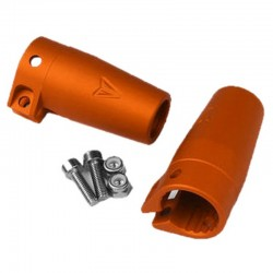 Axial Wraith / Yeti Clamping Lockouts Orange Anodized
