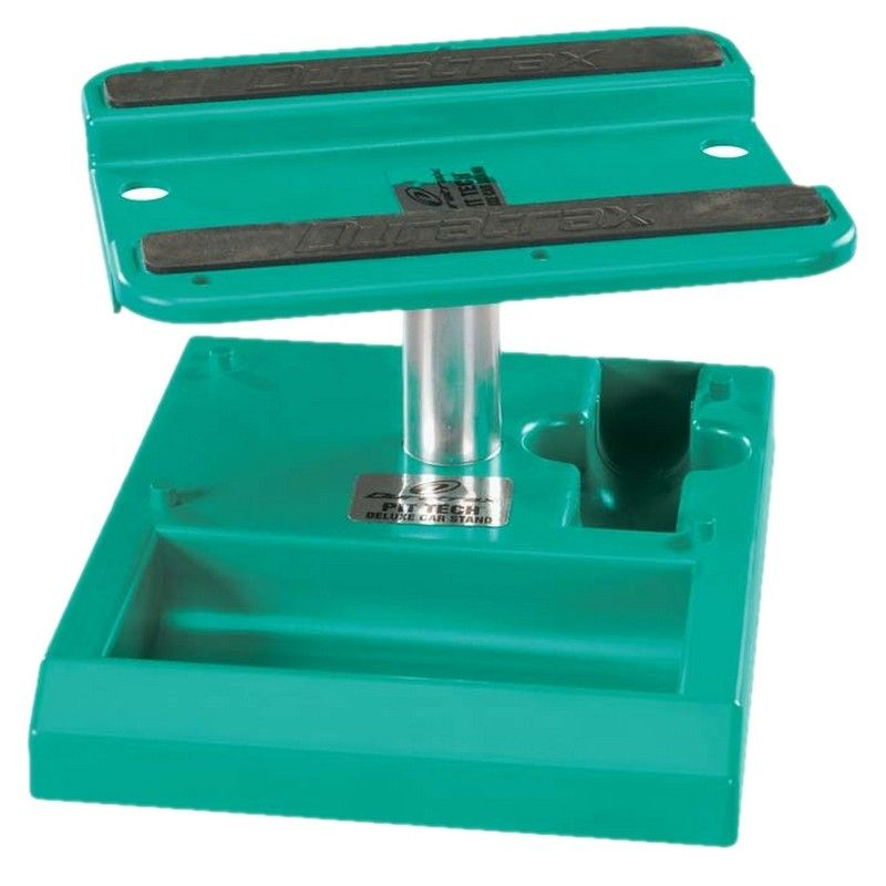 Pit Tech Deluxe Car Stand Green