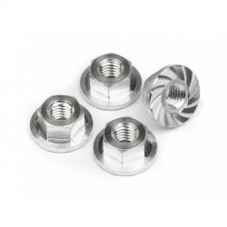 Serrated Flange Nut M4x10.8mm Blitz (4)