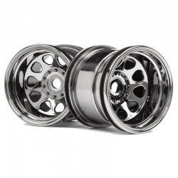Black Chrome Classic King Wheel 2.2 Inches 2 pieces