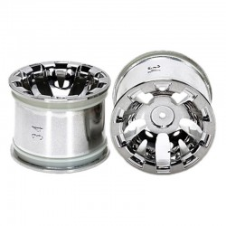 T3-01 Wheels for Rear Wide Pin Spike Tires Chrome Plated 2 Piece