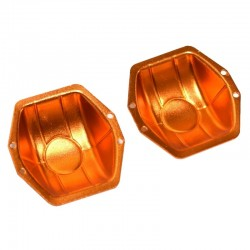 Aluminum Ar60 Axle Diff Covers (Orange) - Axial Yeti Wraith Bomb