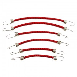 1/10 Scale Bungee Cord Set (6) - Black Red