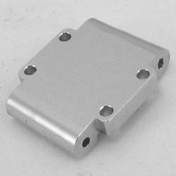 Aluminum Rear Arm Mount -2deg (Stock)(Silver) - Losi 1/36 Micro-