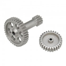 Aluminum High Speed Pinion & Spur Gear Shaft Set Tamiya T3-01
