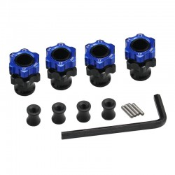 Light Weight 17mm Aluminum Hubs F+3mm - Slash 2wd