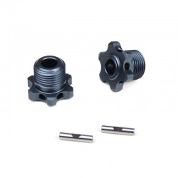 17mm Narrow Wheel Hubs (for TKR5580 lightened w/pins 2 pieces)