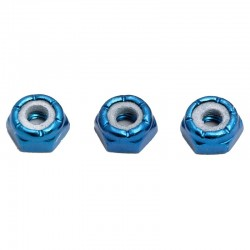 Locknuts 8-32 Blue Aluminum Low Profile