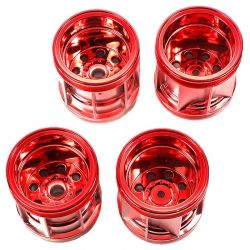 TAM47387 WR-02 Red Plated Wheel Set (F & R)
