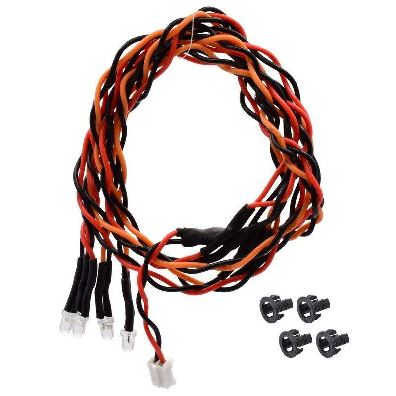 3mm Orange-Red Quad LED 15.75 inch wire length (2 pieces Red - 2