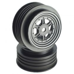 Gambler Front Wheels with 12mm Hex / TLR Offset / BLACK