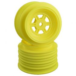 Gambler Rear Wheels for Late Model/Street Stk/12mm Hex/ Yellow