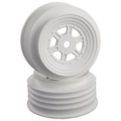 Gambler Front Wheels with 12mm Hex / Tlr Offset / White