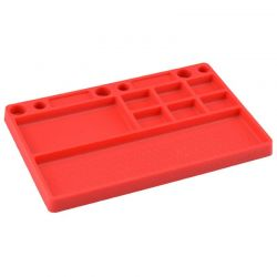 Parts Tray Rubber Material Red